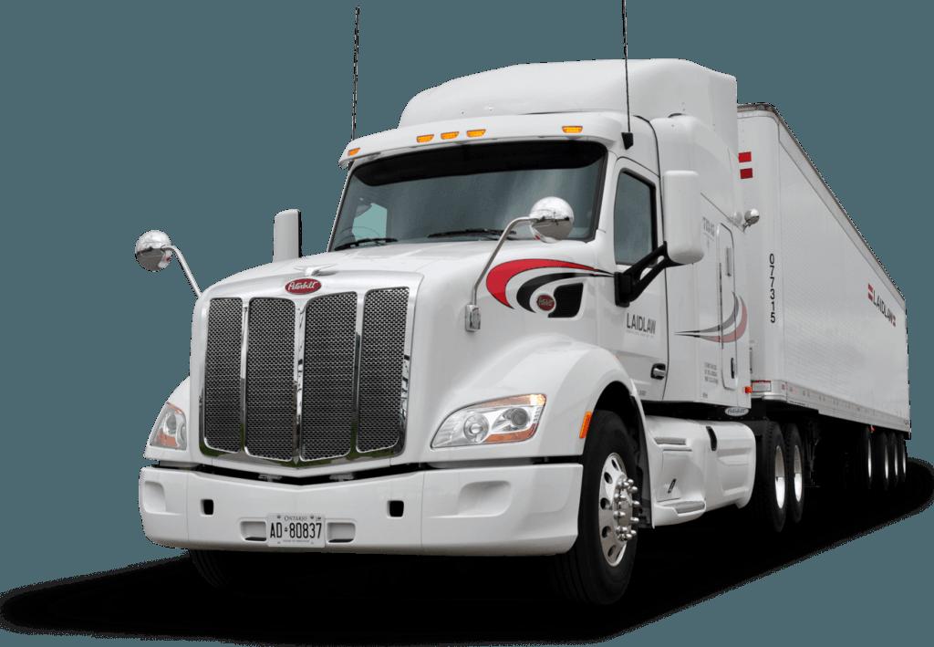 Immagine di camion per sfondo del servizio per l'abbattimento delle accise