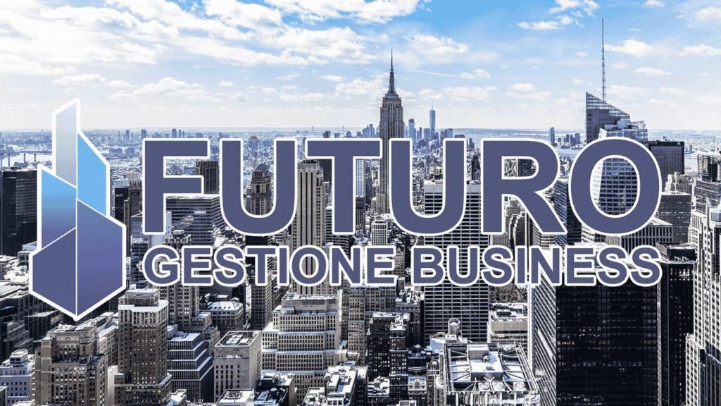 Futuro gestione Business sfondo home page con logo